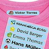 Haberdashery Online 50 Etichette termoadesive Personalizzate, di 6 x 1 cm, per contrassegn...