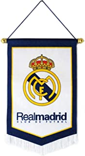 HZIJUE Real Madrid F.C Indoor Outdoor Decoration Hanging Flags Bar Club Bedroom Triangle Flag