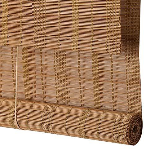 CHAXIA Persiana De Bambú Estor Enrollable Cortina Balcón Corredor Luz De La Cubierta Estilo Pastoral, 2 Colores, El Tamaño Puede Ser Personalizado (Color : A, Tamaño : 60x200cm)