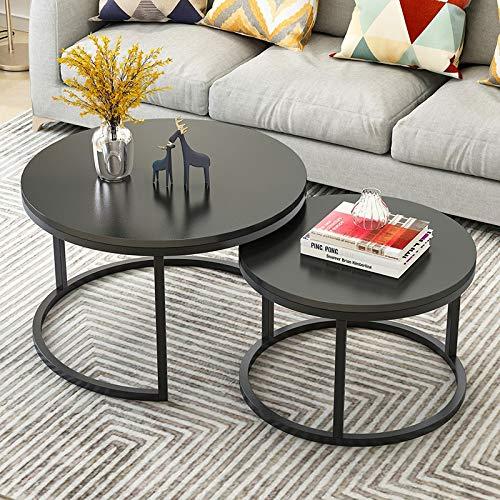 Runder Tisch Kleiner Couchtisch modernes Wohnzimmer Wohnzimmer Sofa runder Tisch Nachttisch multifunktionaler beweglicher Tisch Größe 70 cm * 45 cm klein 50 cm * 38 cm schwarz