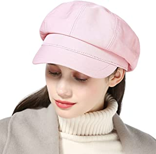 b90038aadd0f2 HH HOFNEN Unisex Cotton Plain Newsboy Cap Cabbie Painter Beret Hat