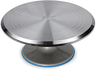 Ateco 615 Revolving Cake Decorating Stand Aluminum Turntable and Base, 12-Inch Round