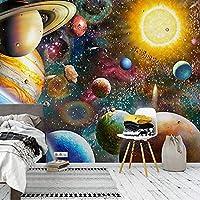 壁画壁紙特大3D部屋キッズユニバース寝室ギャラリー絵画壁画壁紙部屋の壁の背景 200x140cm