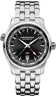 Gifts and Jewels Co. - Hamilton Hamilton Jazzmaster Negro Dial GMT Acero inoxidable Acero Mens Reloj