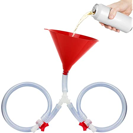 Beer Bong Funnel with Stop Tap Long Tube Funnel with Leak Proof Stopper Drinking Game for Festivals Birthdays Christmas New Years Party