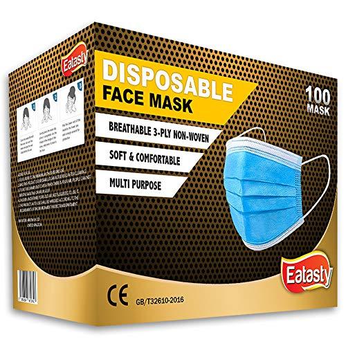 3-lagige Gesichtsmasken für Erwachsene, Einweg-Mundschutz, atmungsaktive Gesichtsbedeckungen, Motorrad, Gesichtsmasken, atmungsaktiv, kein Beschlagen, für die ganze Familie