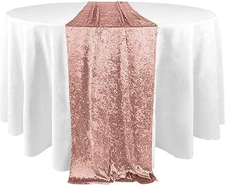 Koyal Wholesale Velvet Table Runner 19 x 120-Inch Extra Long Table Runner, Farmhouse Table Runner, Velvet Tablecloth, Velv...