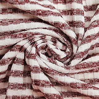 Ruby Light Hacci Stripe 6x6 Rib Knit Poly Rayon Spandex Hacci Fabric