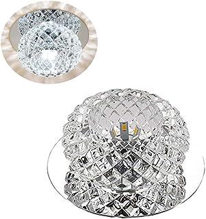 OSALADI Luz de techo de cristal moderna Luz de corredor LED Lámpara empotrada empotrada en el techo Lámpara de 110-220 v Porche de la lámpara porche