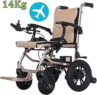 BJYG 14 kg de Peso Ligero Inteligente Plegable Llevar sillas de Ruedas eléctricas para Adultos, sillas eléctricas para discapacitados con Joystick, Silla de Ruedas eléctrica de Servicio Pesado de