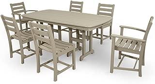 Trex Outdoor Furniture TXS118-1-SC Monterey Bay 7-Piece Dining Set, Sand Castle