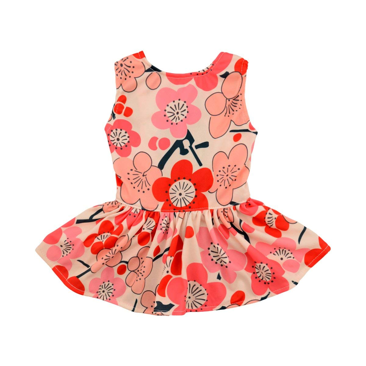 CuteBone Dog Dress Dog Dresses for Small Dogs Doggie Sundress Pet Clothes Dogs Princess Dresses