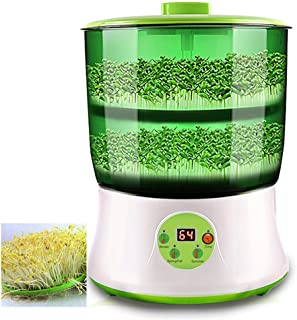 Bean Sprouts Machine, Home Full-Automatic Intelligent Bean Sprouts Maker, Large-Capacity Multi-Functional Double-Layer Seed Grow Cereal Tool