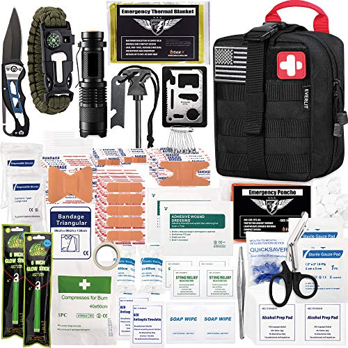 EVERLIT 250 Pieces Survival First Aid Kit IFAK