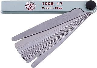 HOMYL Stainless Steel 0.02-1mm Thickness Gap Metric Feeler Measuring Gauge