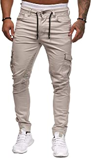 SportsX Men's Cargo Athletic-Fit Comfort Stretch Sports Cargo Jogger Pant