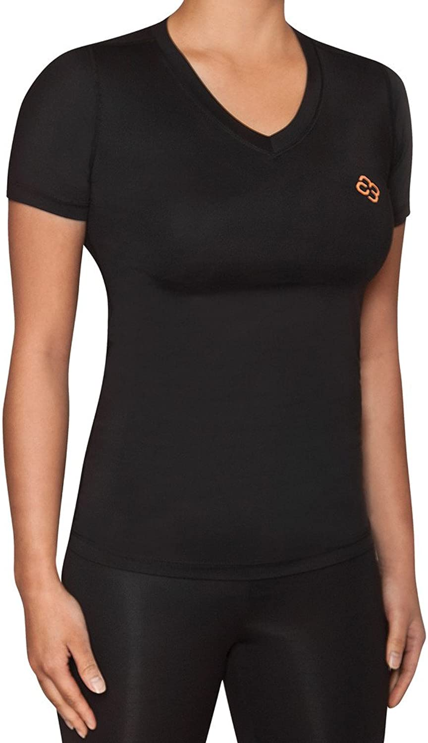 Copper 88 Ladies Compression Short Sleeve Shirt with 88% Copper Fiber Embedded Nylon to Aid in Recovery & Pain Relief  (XLarge)