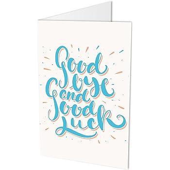 Grande Carte De Vœux Message En Anglais Good Bye And Good Luck Carte Pliante Au Format A4 Avec Enveloppe Carte D Adieux Pour Collegues Ou Employes Pour Adieux Ou Depart En Retraite Amazon Fr