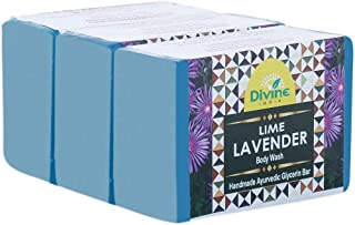 Divine India Lime and Lavender Soap, 125 g (Pack of 3)