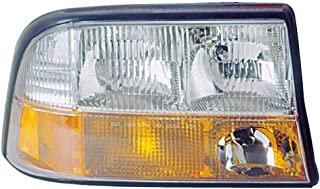 Headlight Replacement For GMC Jimmy|Sonoma|Bravada|S15 Passenger Right Side Rh 1998 1999 2000 2001 2002 2003 2004 2005 Headlamp Assembly
