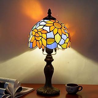 European Sun Flower Garden Mediterranean Bedroom Nattbord Liten bordslampa Bar Hotellpersonlighet 8 tums Medelhavslampa