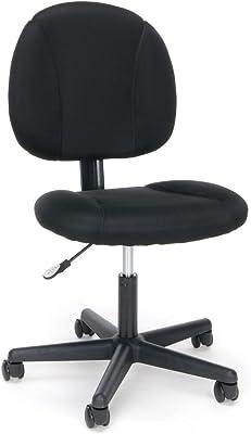 Essentials Swivel Upholstered Armless Task Chair - Ergonomic Computer/Office Chair, Black (ESS-3060)