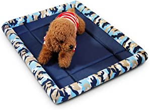 Pengcher Pet Cooling Pads Summer Traveling Kennels Cat's Nest Pet Nest with Cushion(Camouflage Blue,M) for Pet Dog Blanket