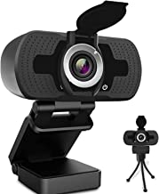 HD Webcam 1080P, USB Desktop Laptop Camera with110-Degree View Angle, Digital Web Camera with Stereo Microphone, Stream We...