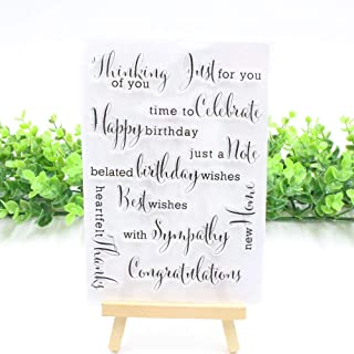 MaGuo Sentiment Clear Stamps Just for You with Sympathy Thank You for Card Making Decoration and DIY Scrapbooking