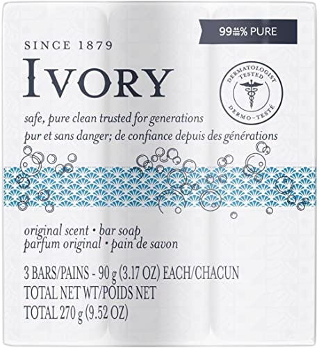 Ivory Bar Soap Original Scent 90 g, 3 count
