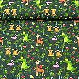 MAGAM-Stoffe Dschungel Freunde Kinder Jersey Stoff Oeko-Tex