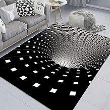 lzndeal Halloween 3D Illusion Doormat IT 3D Hole Doormat Caretive Vortex Illusion Doormat Stereo Vision IT Illusion Rug Living Room Bedroom Art Carpet 3D Visual Vortex Optical Anti-Slip Floor Mat