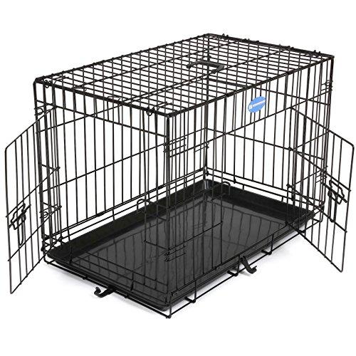 SONGMICS Faltbare Hunde Käfig Metall für Befestigung für Haustiere 75 x 47 x 54