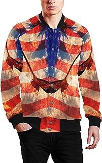 Men's Zip Up Baseball Jacket Long Sleeves Short Blazer Outfit