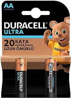Duracell Ultra Alkalin AA Kalem Piller, 2'li paket