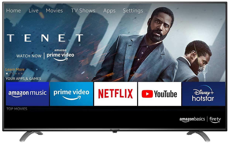 AmazonBasics 127cm (50 inch) 4K Ultra HD Smart LED Fire TV AB50U20PS (Black) 1