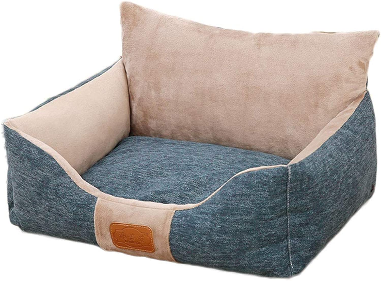 A++ Sofa Cushion Pet Nest, Household golden Hair Small Medium Large Cat Dog Bed, Pet Supplies AntiSlip Mat Four Seasons Universal (color   A, Size   54  48cm)