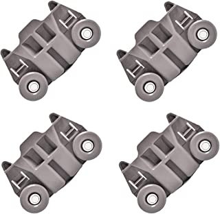 W10195417 [UPGRADED] Lower Dishwasher Wheel Replacement by SANJOIN [ Pack of 4 ], Exact Fit for Whirlpool Kenmore Dish Rack AP4538395, PS2579553, WPW10195417, Enhanced Durability with Steel Screws