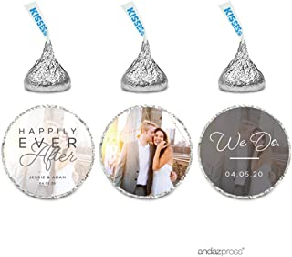 Andaz Press Photo Personalized Beloved Wedding Collection, Chocolate Drop Labels for Hershey's Kisses, 216-Pack, Custom Image