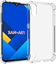 Samsung Galaxy A01 Case Cover Bumper Shell Soft TPU Silicone Clear Transparent Cover Shockproof for Samsung Galaxy A01 by Nice.Store.UAE