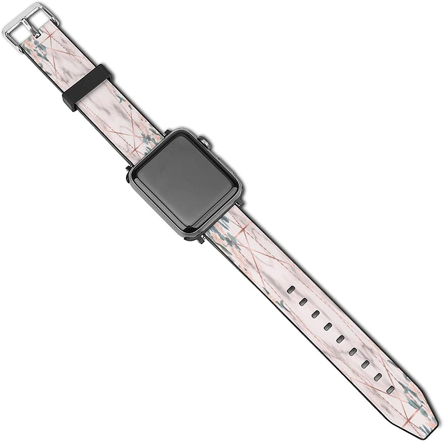Pink 1 year warranty Marble And Geometric Sport Apple Compatible with Super intense SALE Watch Band