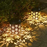 LEDランタンTomshine 2個セット ソーラーライト 屋外 ガーデンライト 复古スタイル 防水 無線 防犯 エネループ 単3電池使え ガーデン/テラス/ベランダ/歩道 屋外 屋内 照明 ランタンスタンド (花柄) クリスマス 飾り クリスマスライト