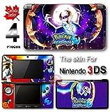 Pokemon Moon Sun Go Lunala Skin Sticker Cover Deal #3 for Nintendo Original 3DS
