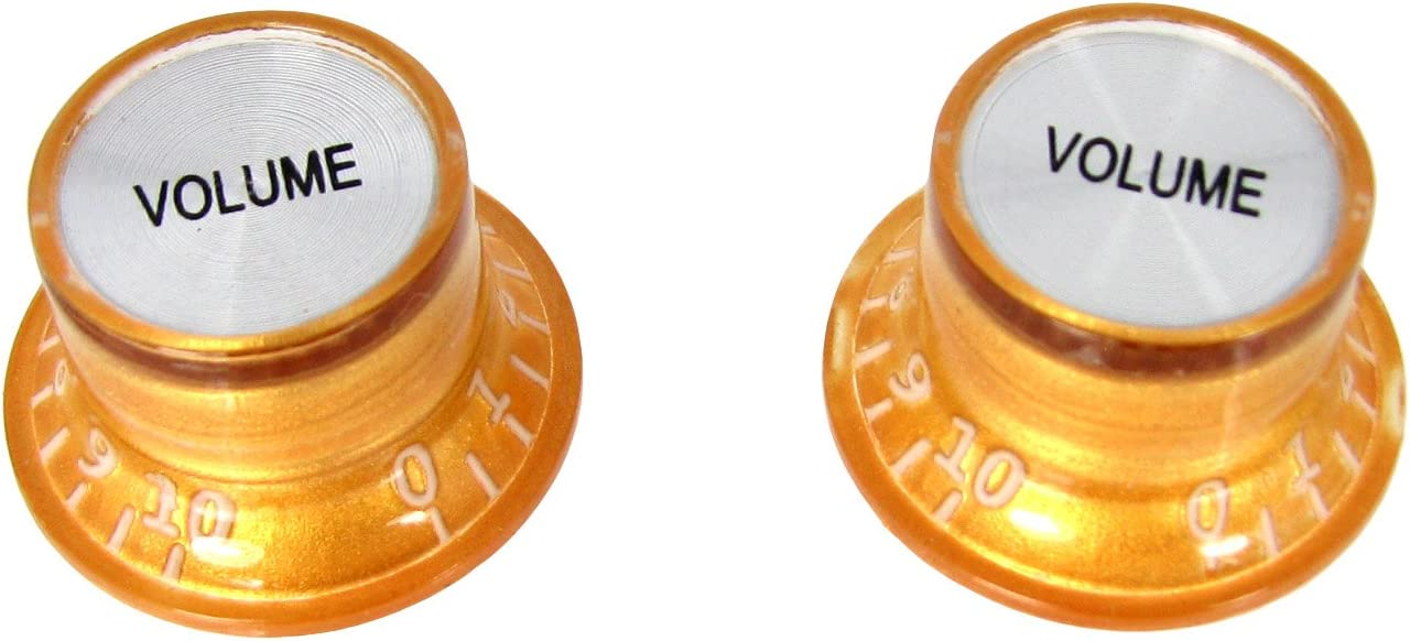 2pc. Very popular Gold Top-hat Style Knobs Volume Ranking TOP9 Acrylic