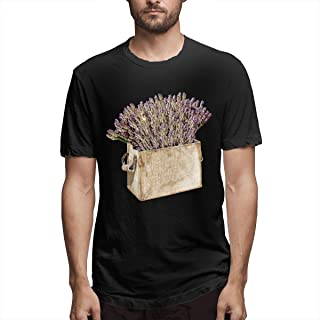Zoomu LavenderMen's Short Sleeve Standard T-Shirt Slim-fit Short-Sleeve Slub Henley T-Shirt