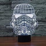 XANXUS visión ® Star Wars proyección 3d visuales LED mesa de luces de noche para niños Touch USB Lampara como saco de dormir de además de lámpara luz nocturna, StormTrooper 2