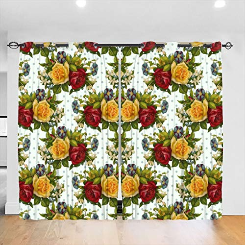 HelloWorldA Shabby Roses Do The Polka Blackout Curtains Thermal Insula