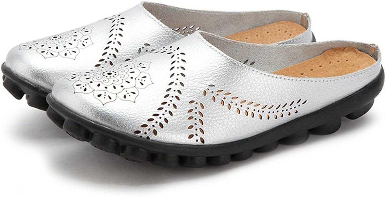 Lamato Kvinnliga Mulor Mulor Mulor Slip -on skor läder Clogs Flats Wallking Slipper  snabb leverans