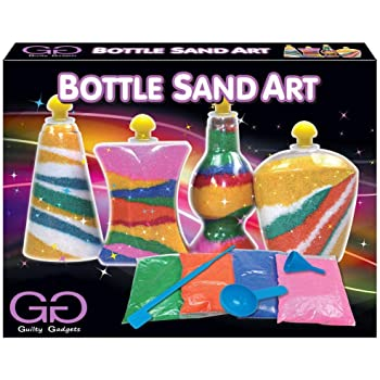 Guilty Gadgets Kids Bottle Sand Art Craft DIY Activity Make Your Own Game Toy Set Birthday Chirstmas Gift