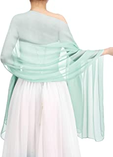 Women's Soft Chiffon Shawls for Evening Dresses Fashion Scarves Wraps for Bridal Wedding Party